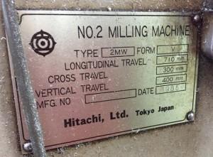 立フライス盤 2MW